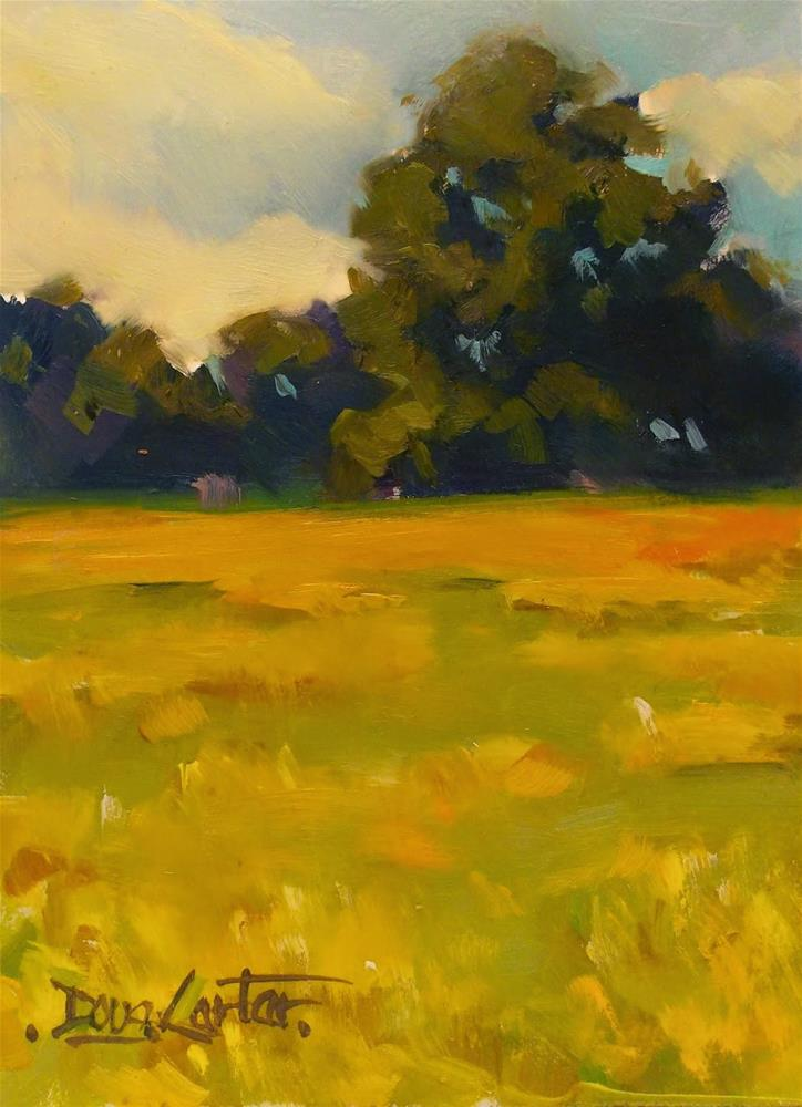 """GOLD SUMMER"" original fine art by Doug Carter"