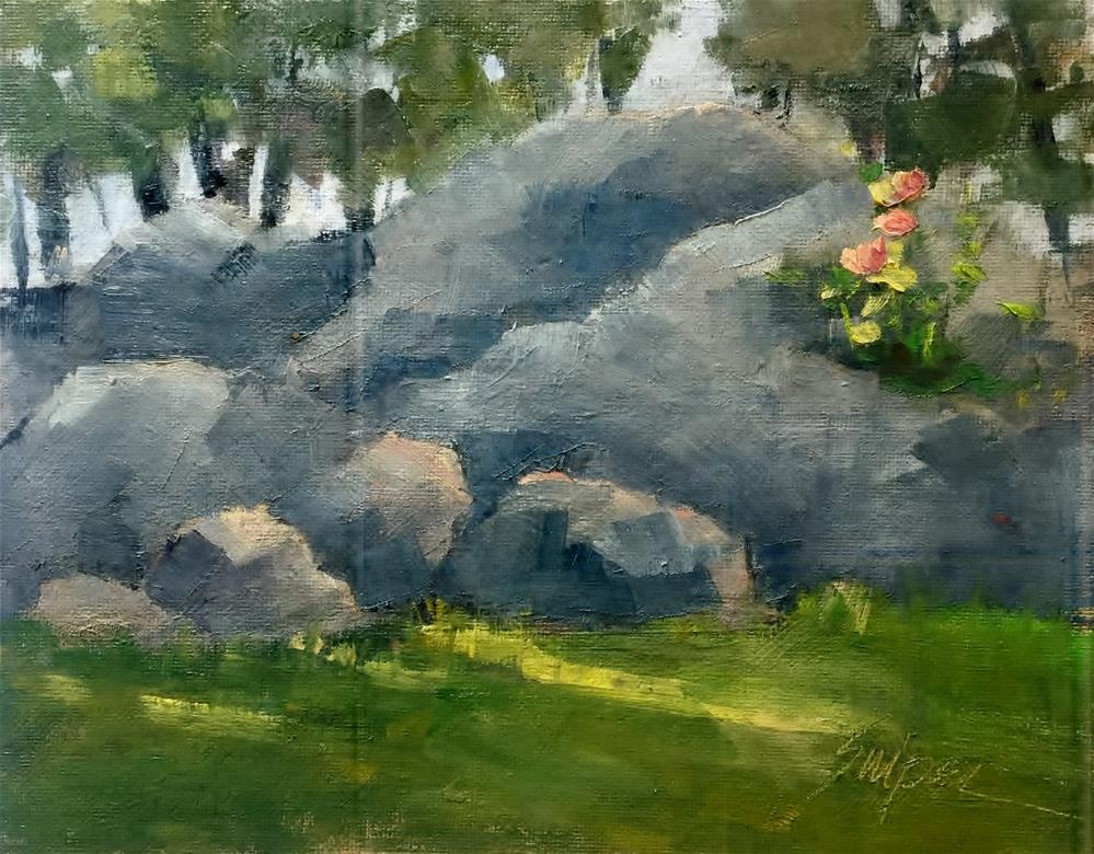 """Rocks for the Traveling Minister"" original fine art by Connie Snipes"
