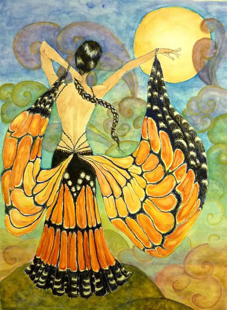 """Monarch Moondance"" original fine art by Ande Hall"