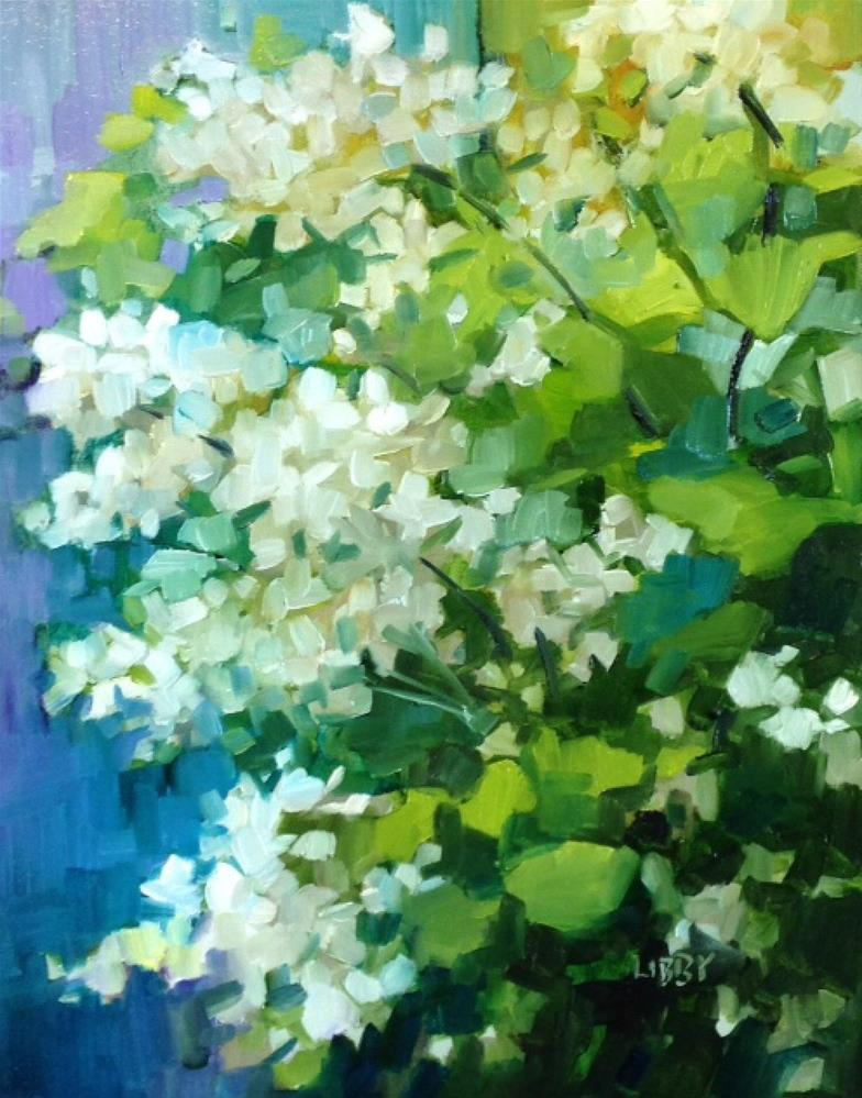 """Oak Leaf Reunion"" original fine art by Libby Anderson"