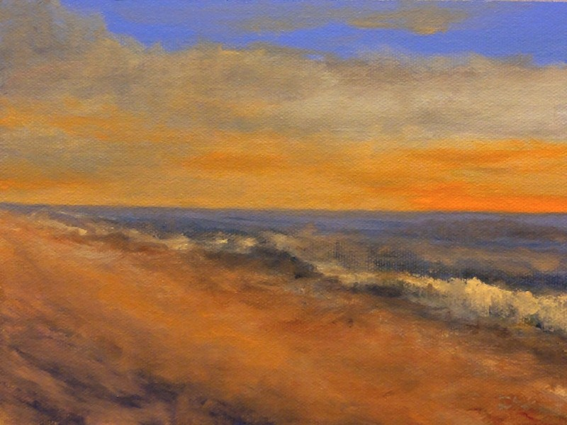 """Hawaiian Sunrise"" original fine art by Dalan Wells"