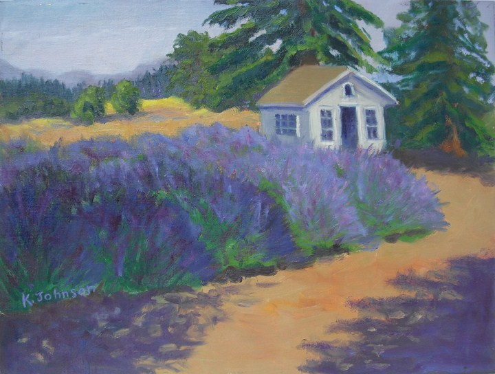 """Talk About Quaint!"" original fine art by Kathy Johnson"