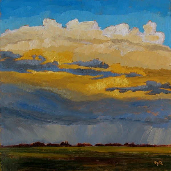 """Cloud Glow"" original fine art by Nicki Ault"