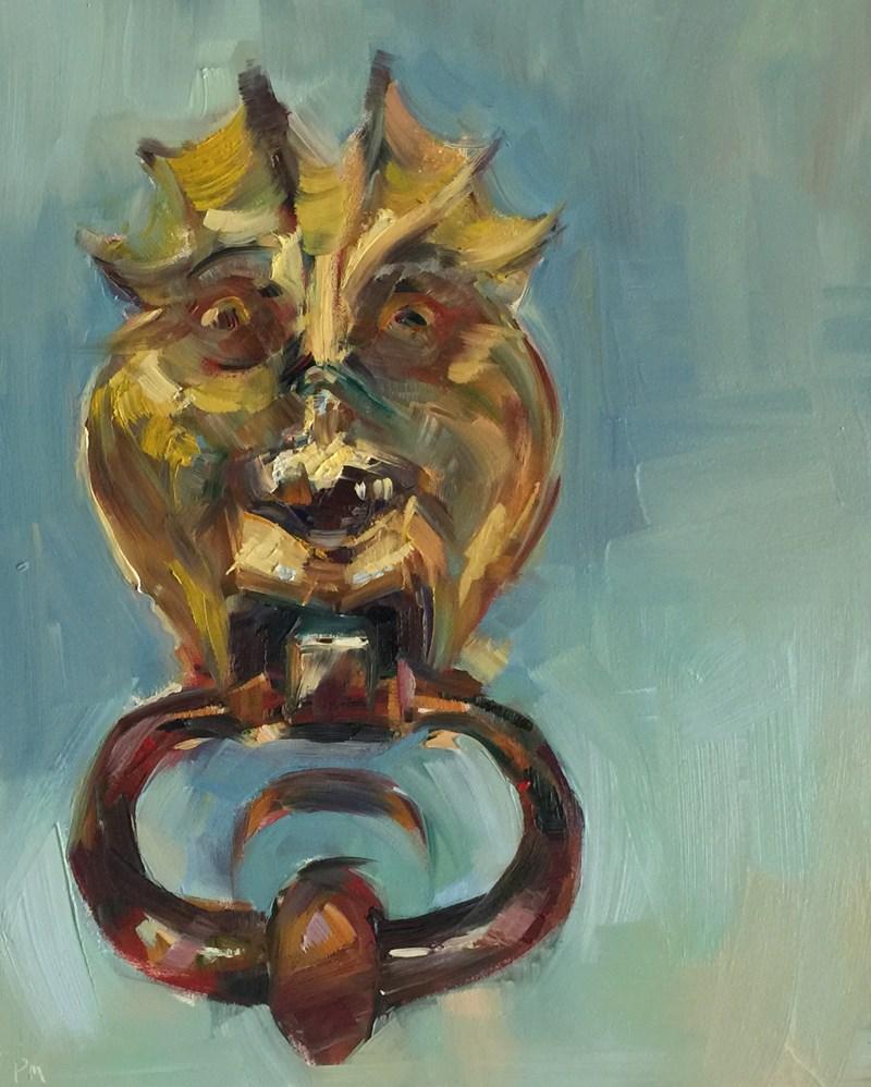 """Cinque Terre Door Hang"" original fine art by Patti McNutt"