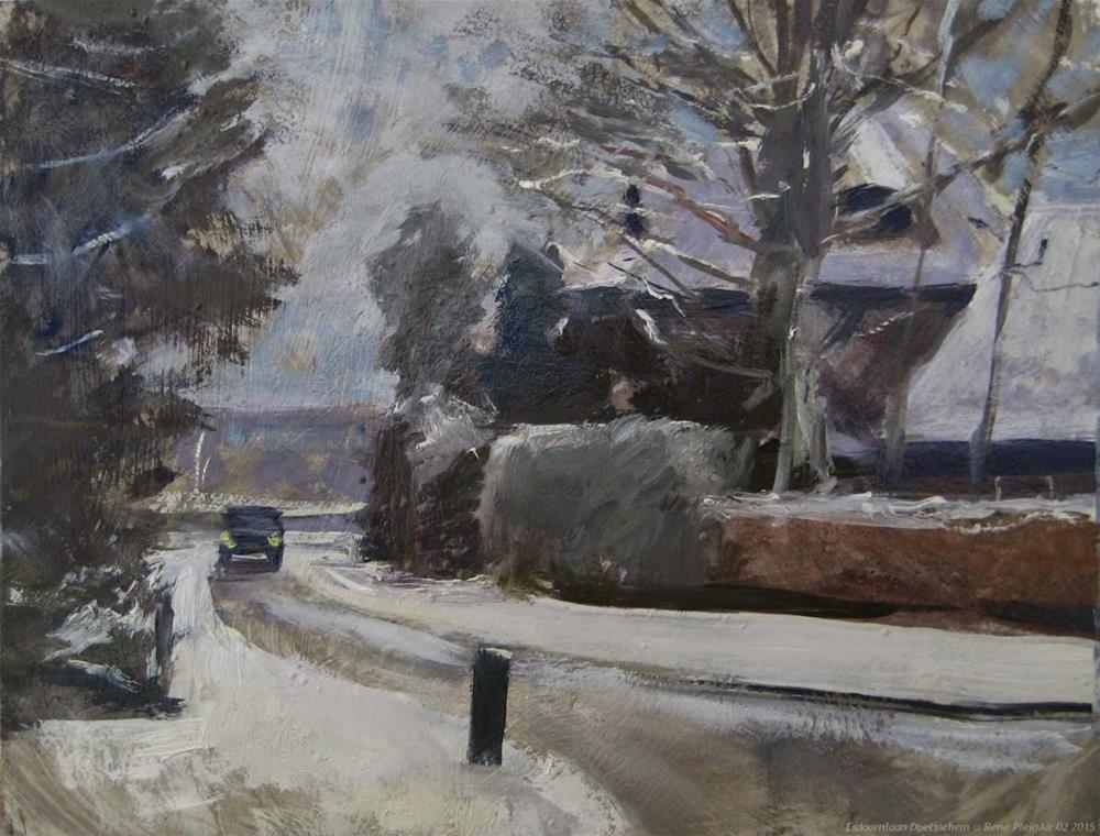 """Snow!!"" original fine art by René PleinAir"