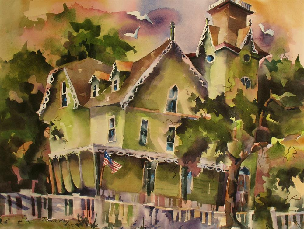 """The Abbey-Cape May, NJ"" original fine art by Jinnie May"