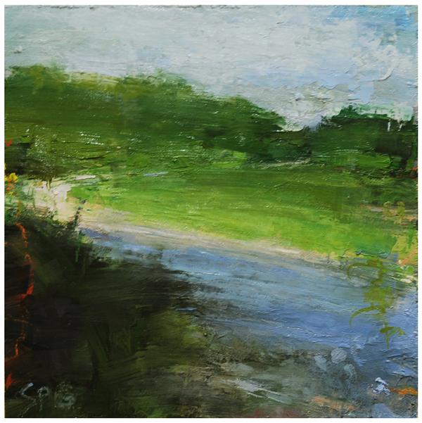 """""""Light at the bend (2)"""" original fine art by Steven Goodman"""