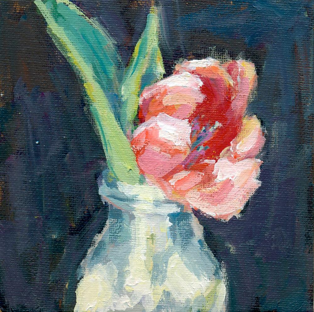 """DPW challenge tulip"" original fine art by Shelley Garries"