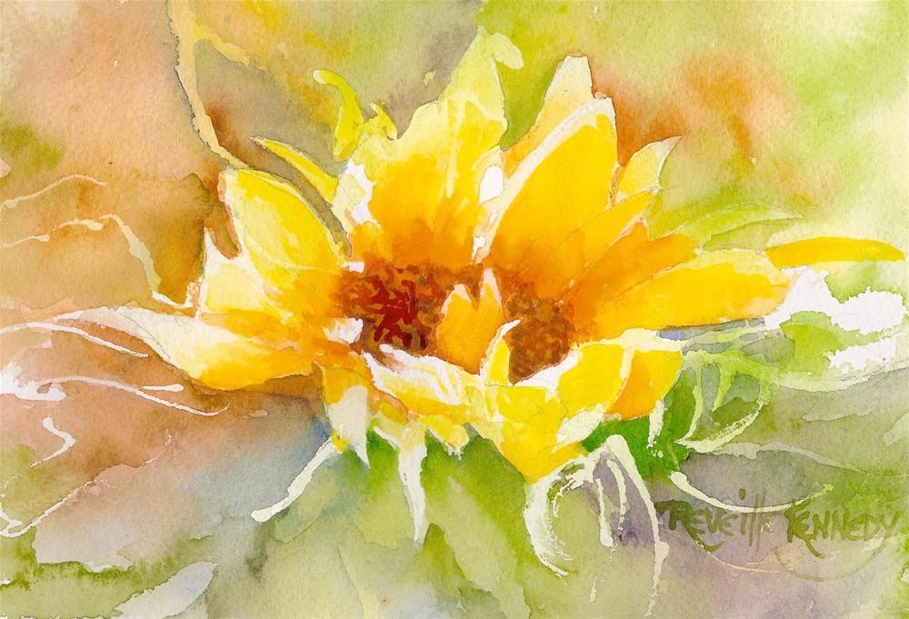 """Betsy's Sunflower"" original fine art by Reveille Kennedy"