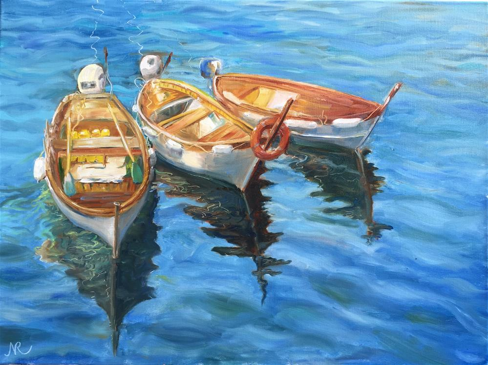"""Boats"" original fine art by Natasha Ramras"