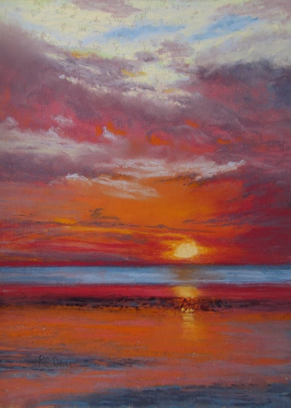 """Sunset variation"" original fine art by Ruth Mann"