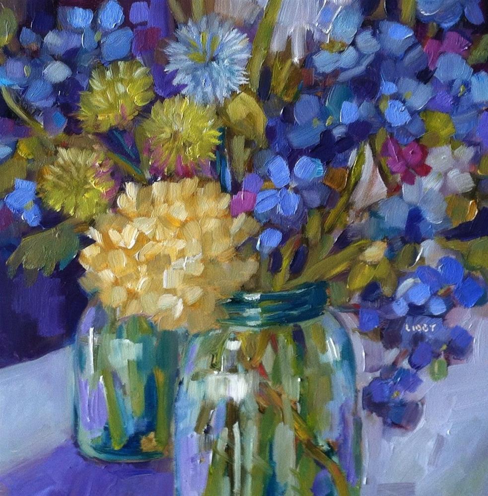 """True Blue"" original fine art by Libby Anderson"