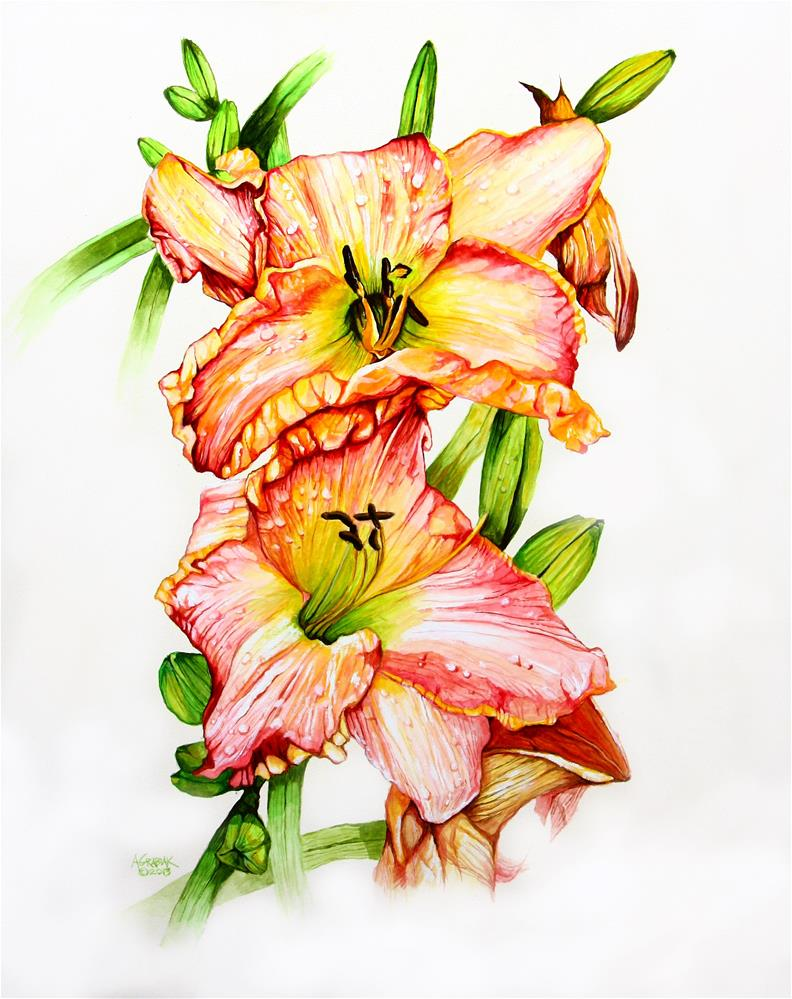 """'Clothed In Glory' Daylily"" original fine art by Aaron Grabiak"