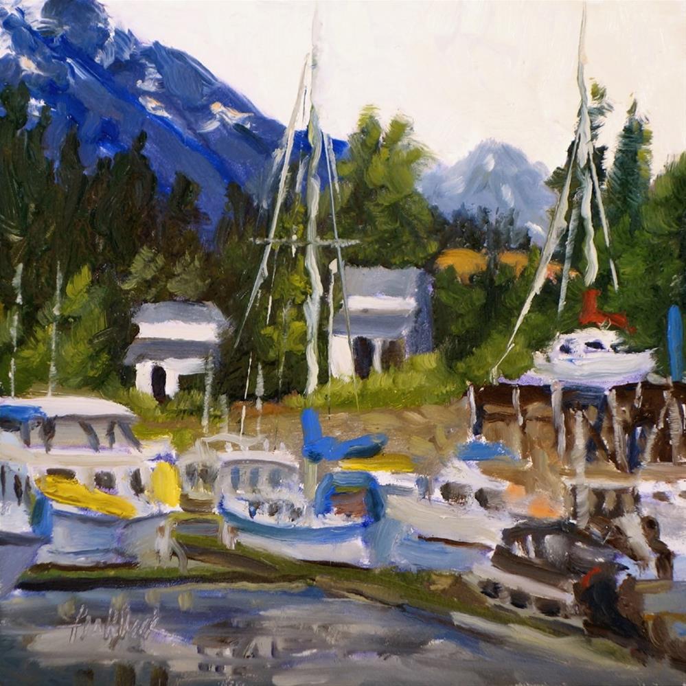 """Vancouver Boats"" original fine art by Daniel Fishback"