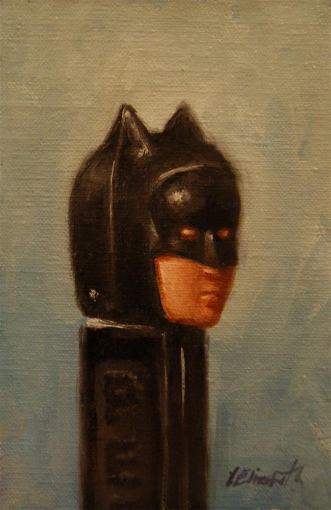 """Hero in Black,  Oil on 4x6 Linen Panel"" original fine art by Carolina Elizabeth"