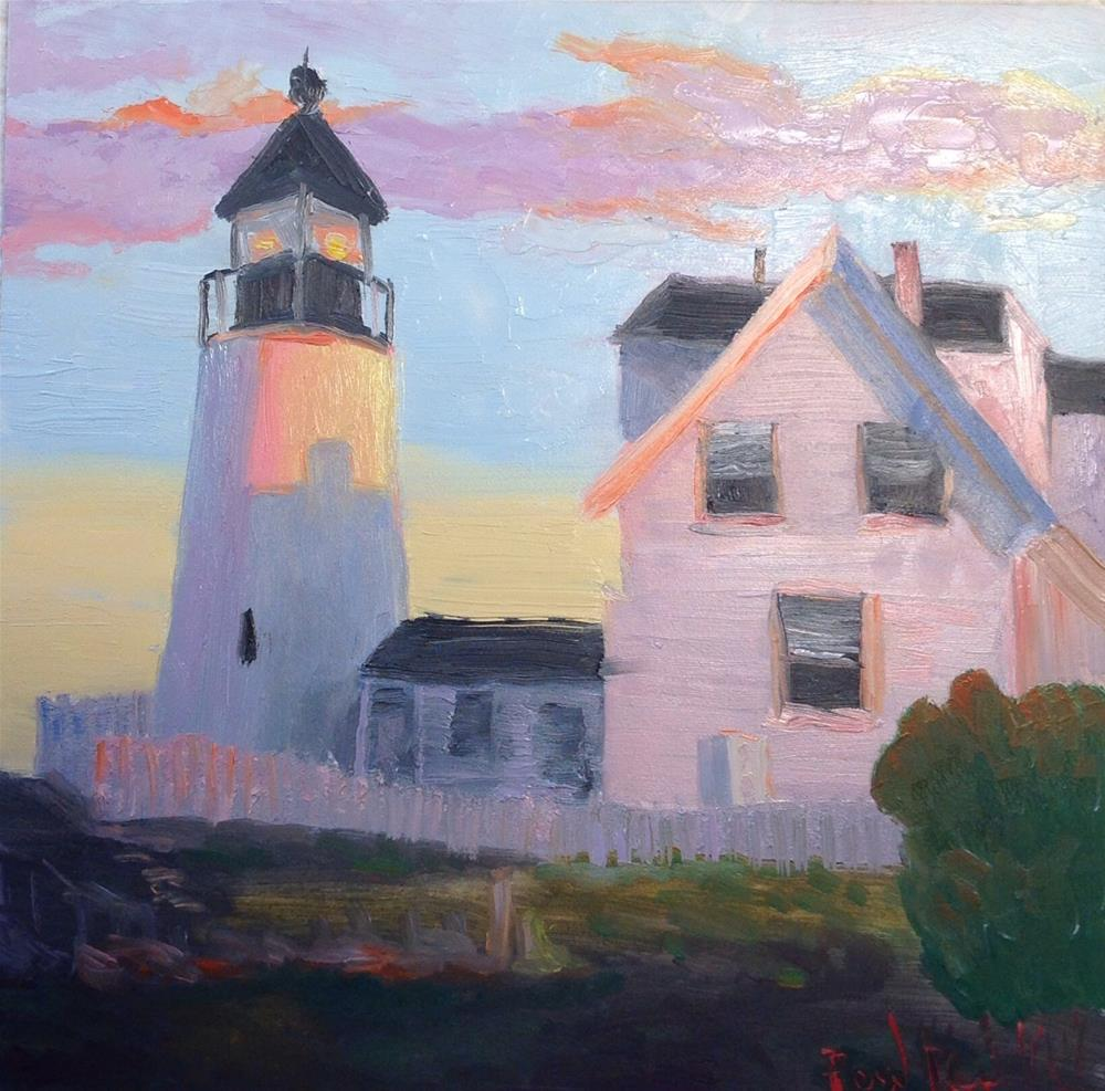 """The Lighthouse"" original fine art by Rose Brenner"