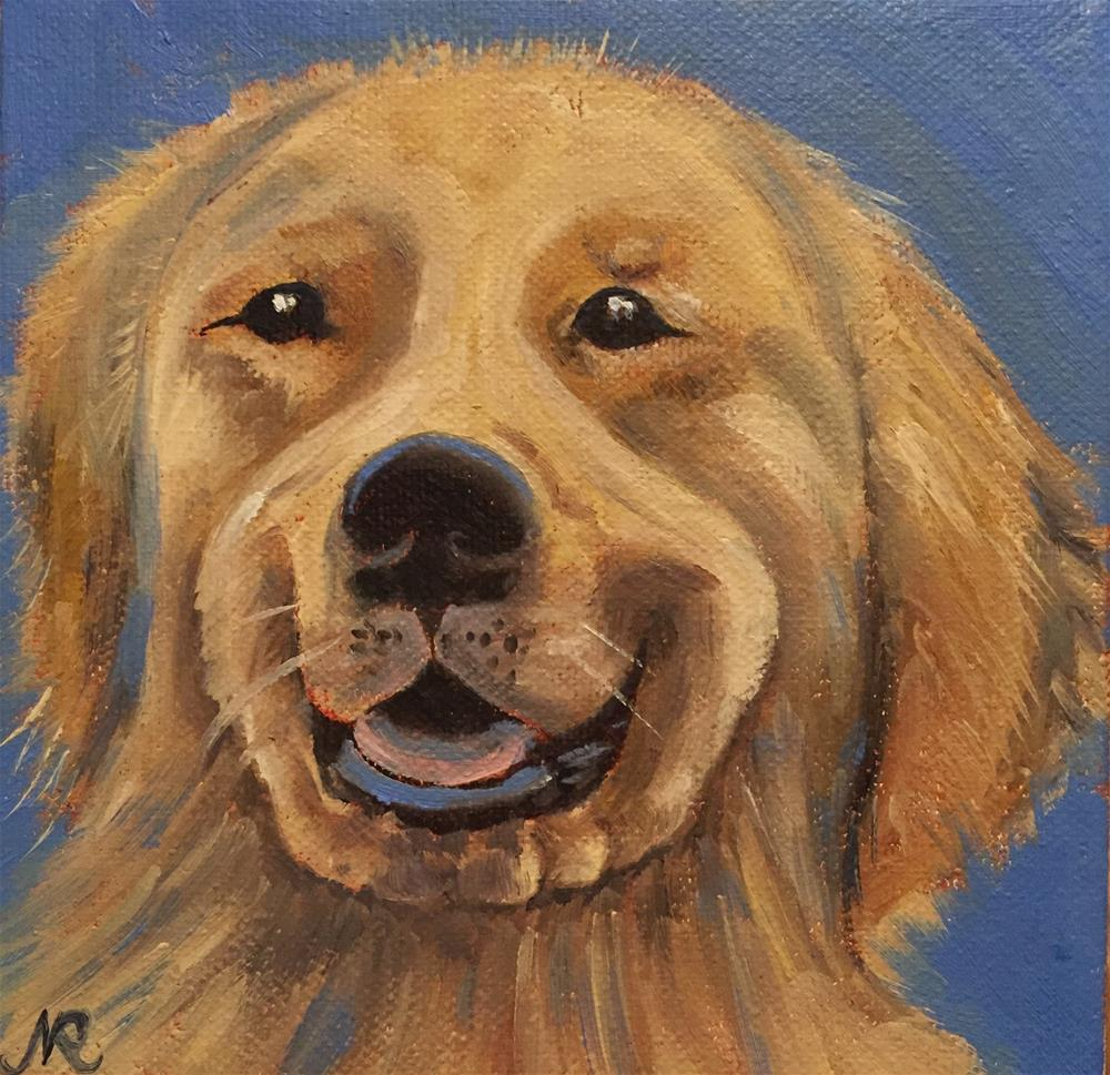 """Puppy"" original fine art by Natasha Ramras"