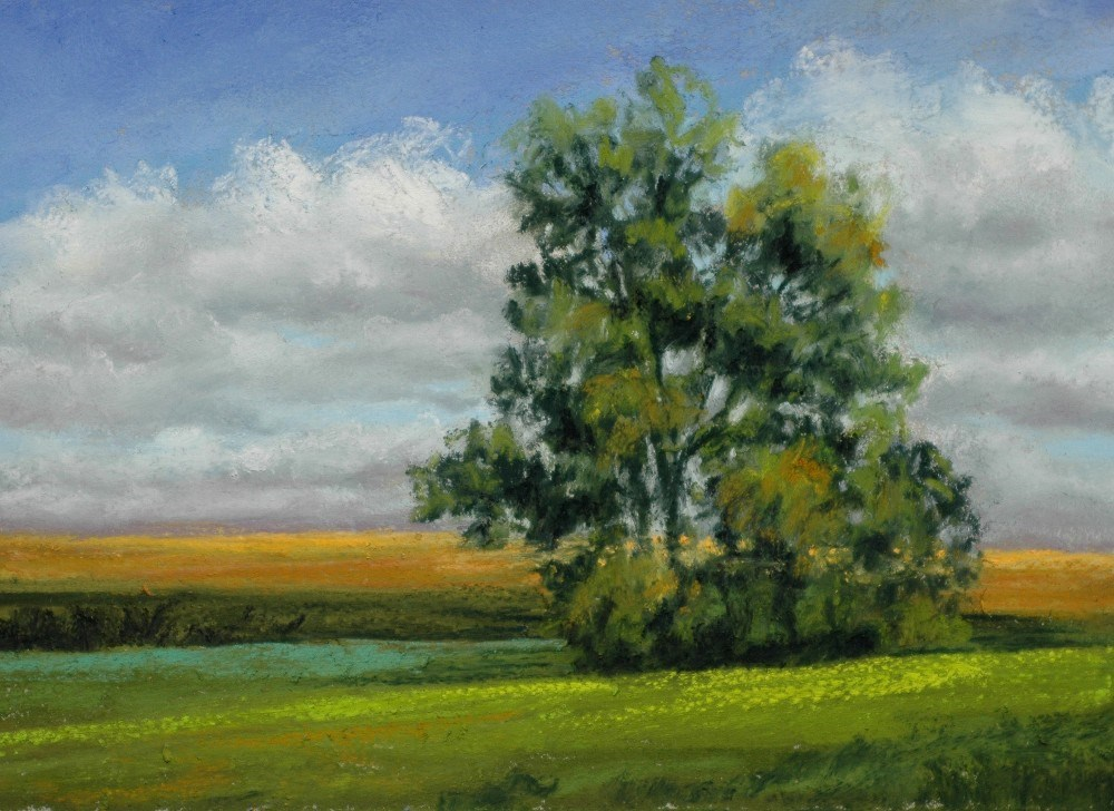 """September Clouds"" original fine art by Susan Klabak"