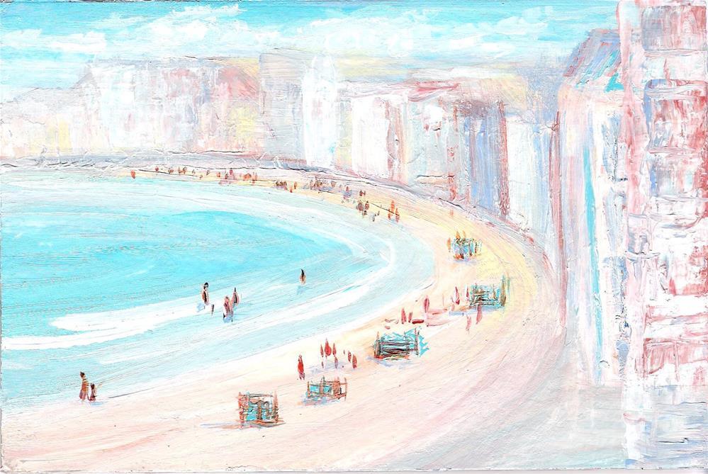 """""""3164 - Beach Town - OSWOA Series"""" original fine art by Sea Dean"""