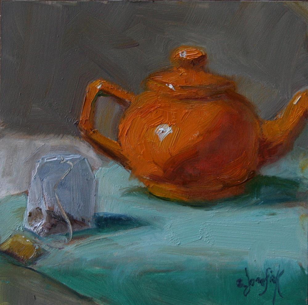 """Moment for Tea"" original fine art by Carol Josefiak"