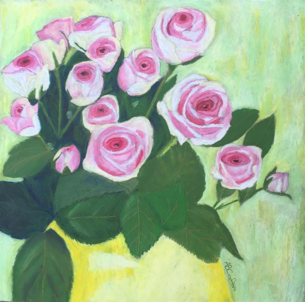 """15 Pinks"" original fine art by Arlene Crafton"