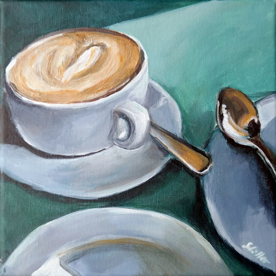 """1812 Favorite Coffee"" original fine art by Dietmar Stiller"