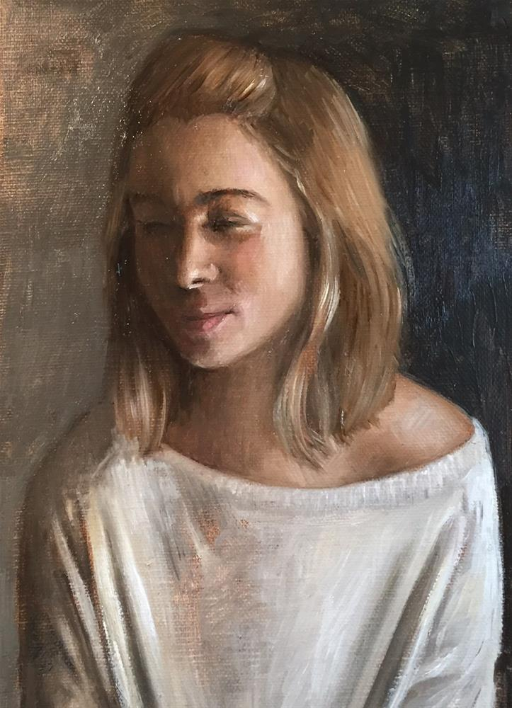 """Portrait Sketch"" original fine art by Naomi Hughes"