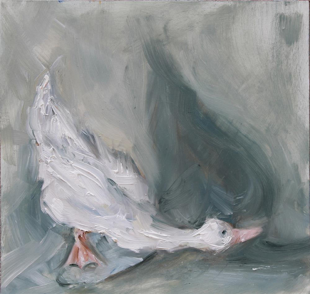 """""""Lladro Swan"""" original fine art by Karen Solorzano"""