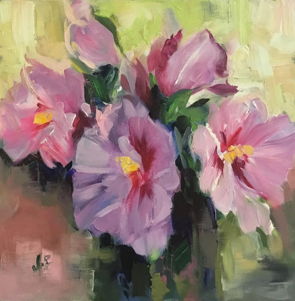 """Rose of Sharon II"" original fine art by Jean Fitzgerald"