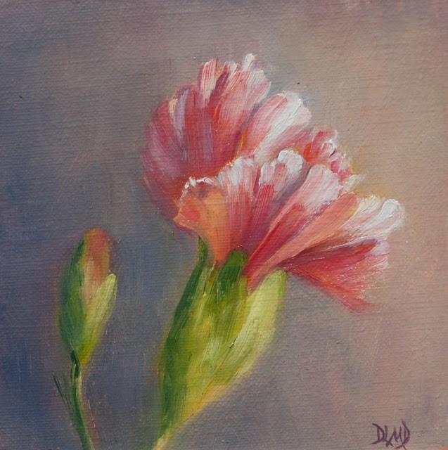 """Charming in Pink!"" original fine art by Debbie Lamey-Macdonald"