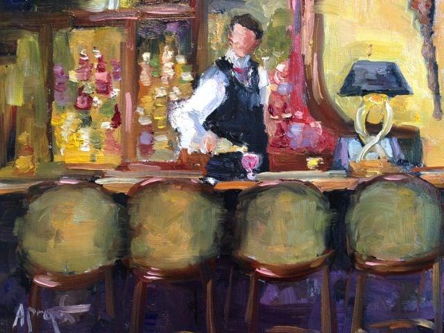 """""""Five O'Clock"""" original fine art by Anne Marie Propst"""