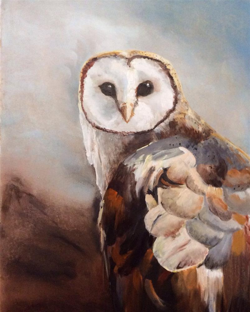 """Whooo Me?"" original fine art by Charlotte Lough"