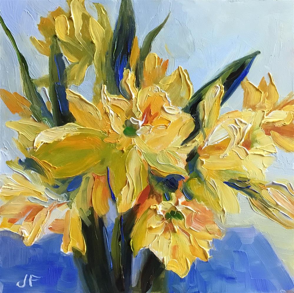 """Daffodils"" original fine art by Jean Fitzgerald"