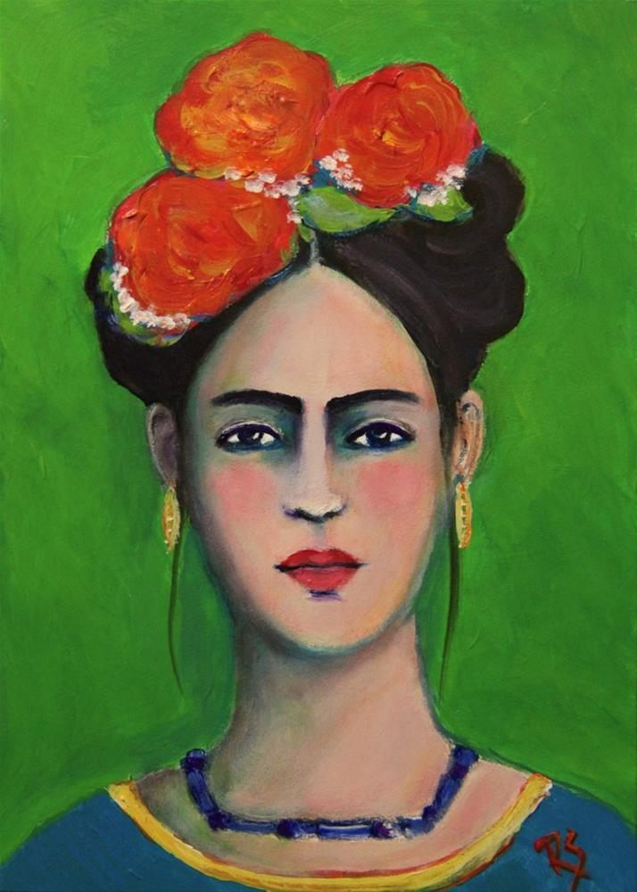 """Strength - A Frida Kahlo Inspired Painting"" original fine art by Roberta Schmidt"