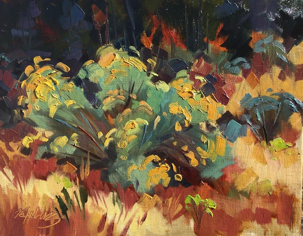"""Sage in Bloom"" original fine art by Mary Jabens"