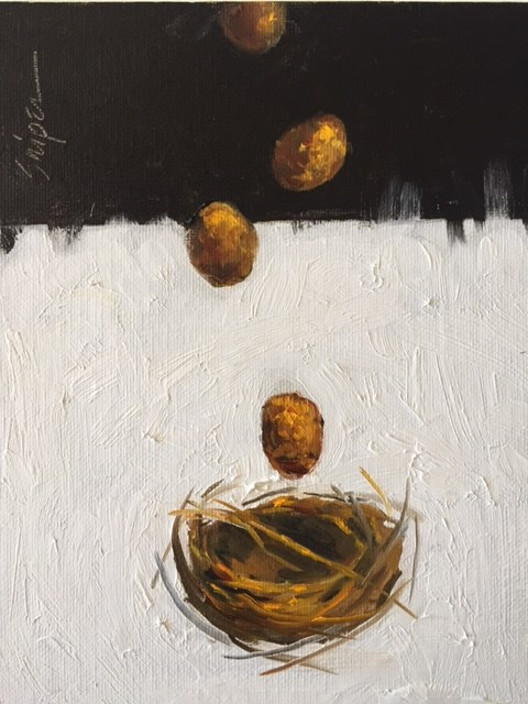 """Bird Nest, Day 11"" original fine art by Connie Snipes"
