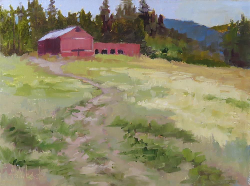 """Hay Barn"" original fine art by Pam Holnback"