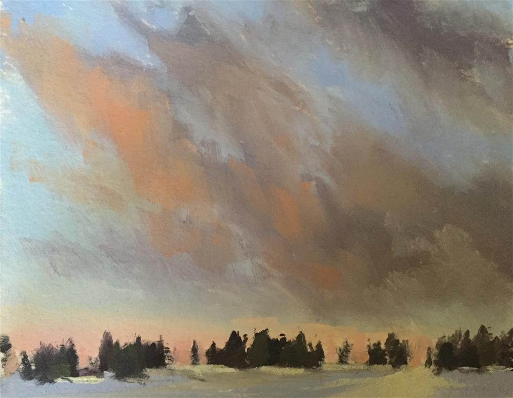 """Winter Skies 1"" original fine art by Mary Jabens"