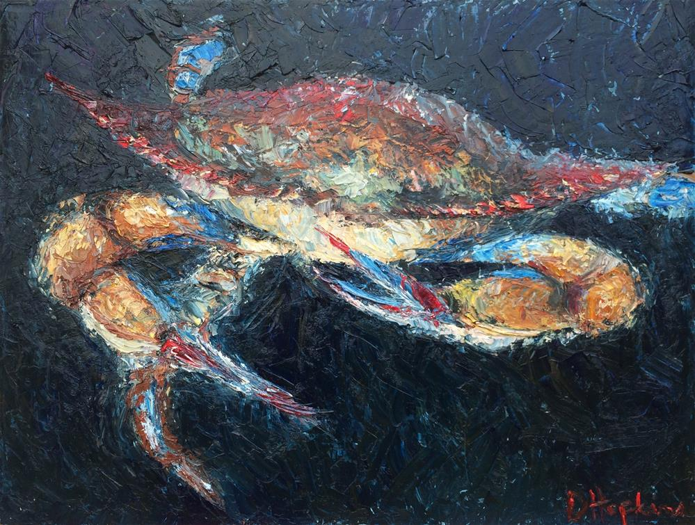 """Diving In"" original fine art by Denise Hopkins"