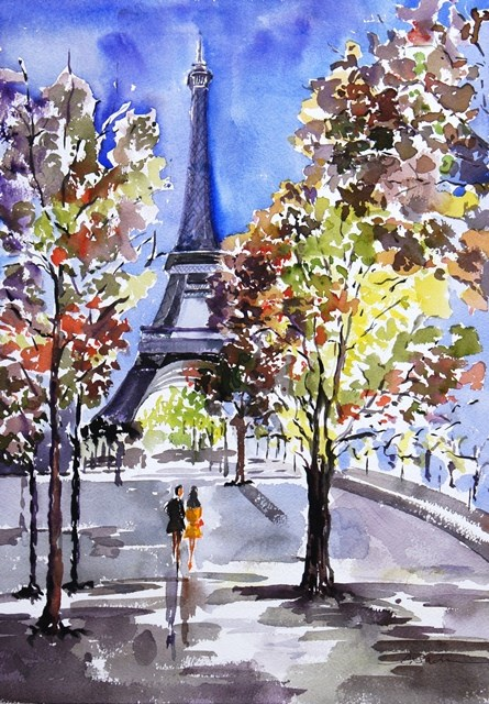 """Path to the Tower #2"" original fine art by Lisa Fu"