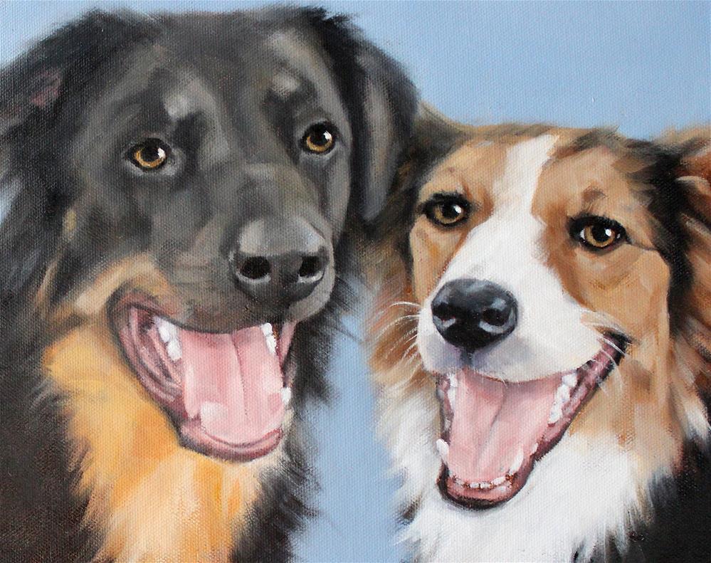 """Louie and Sophie"" original fine art by Joan Carroll"