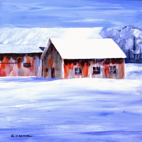"""Barn #25"" original fine art by Anna Vreman"