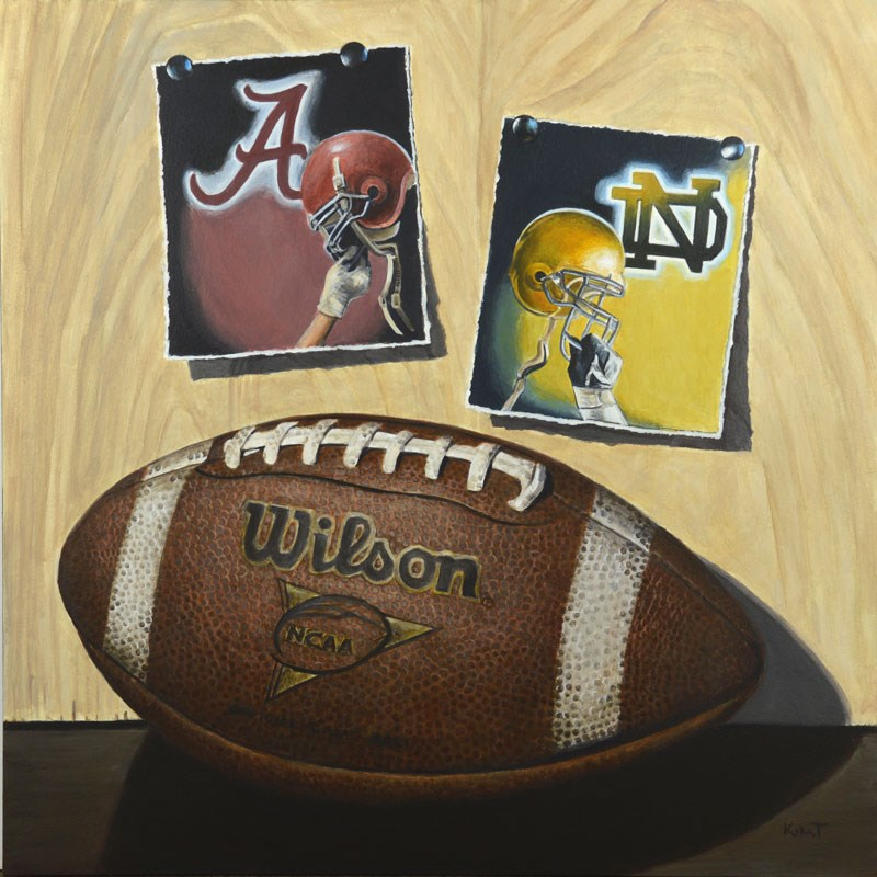 """College Game Day (Commission)"" original fine art by Kim Testone"