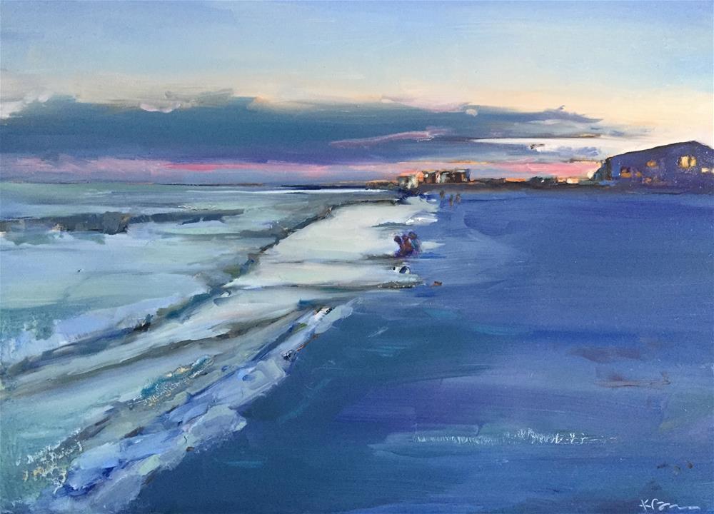 """""""Sunset at Beach Walk"""" original fine art by Kathleen Broaderick"""