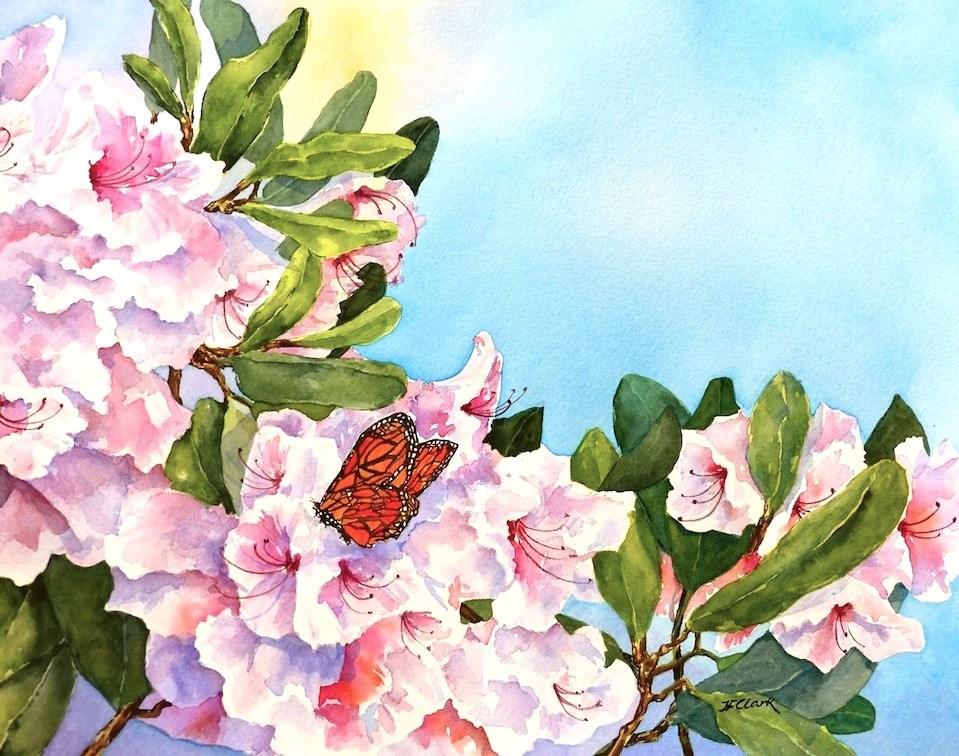 """Butterfly Holiday"" original fine art by Judith Freeman Clark"