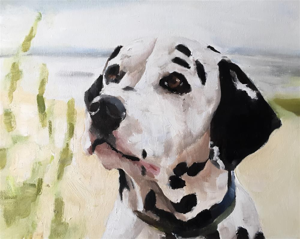 """Dalmatian"" original fine art by James Coates"