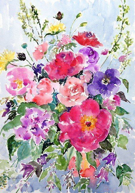 """Spring Blooming-2"" original fine art by Lisa Fu"