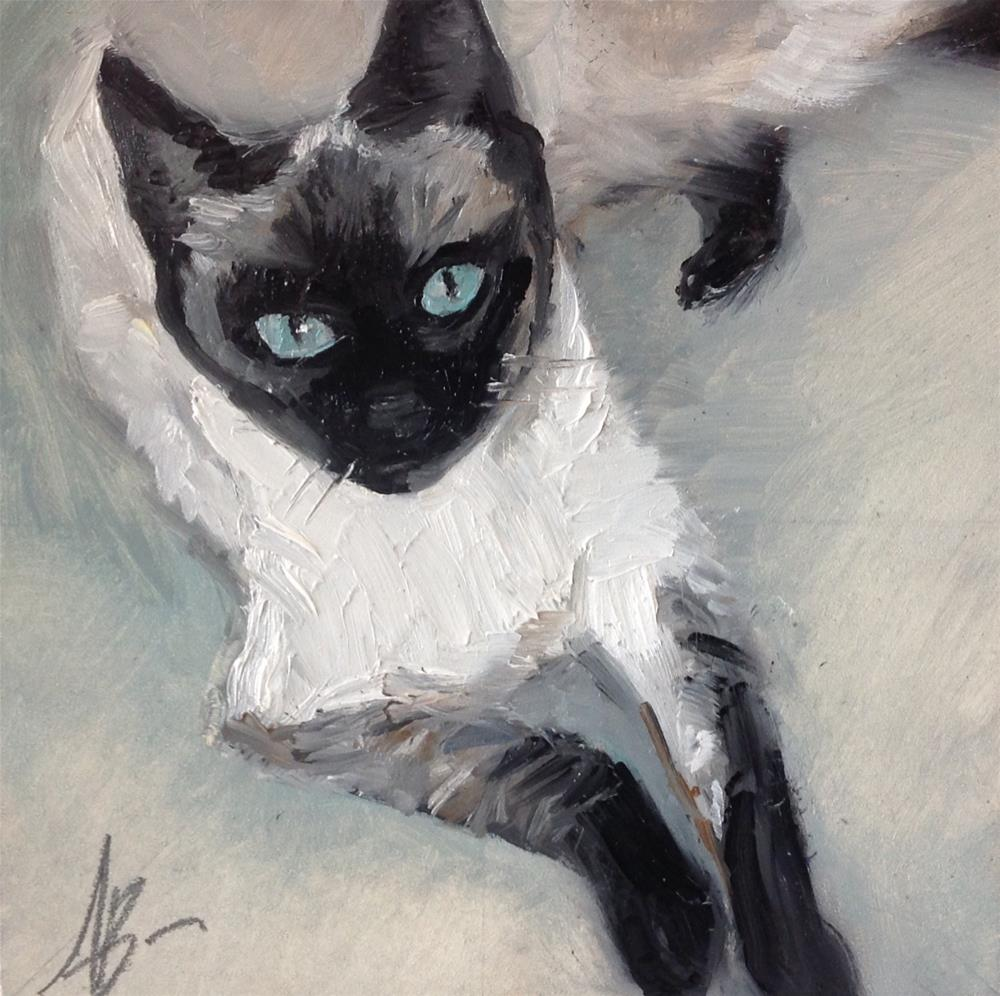 """Blue Eyed Siamese"" original fine art by Annette Balesteri"