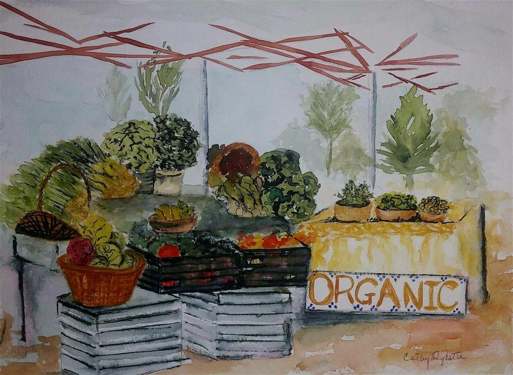 """Farmers Market"" original fine art by Cathy Dykstra"