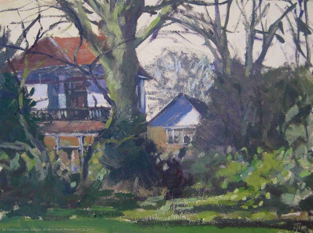 """36 Stationsstraat. Zelhem, The Netherlands."" original fine art by René PleinAir"